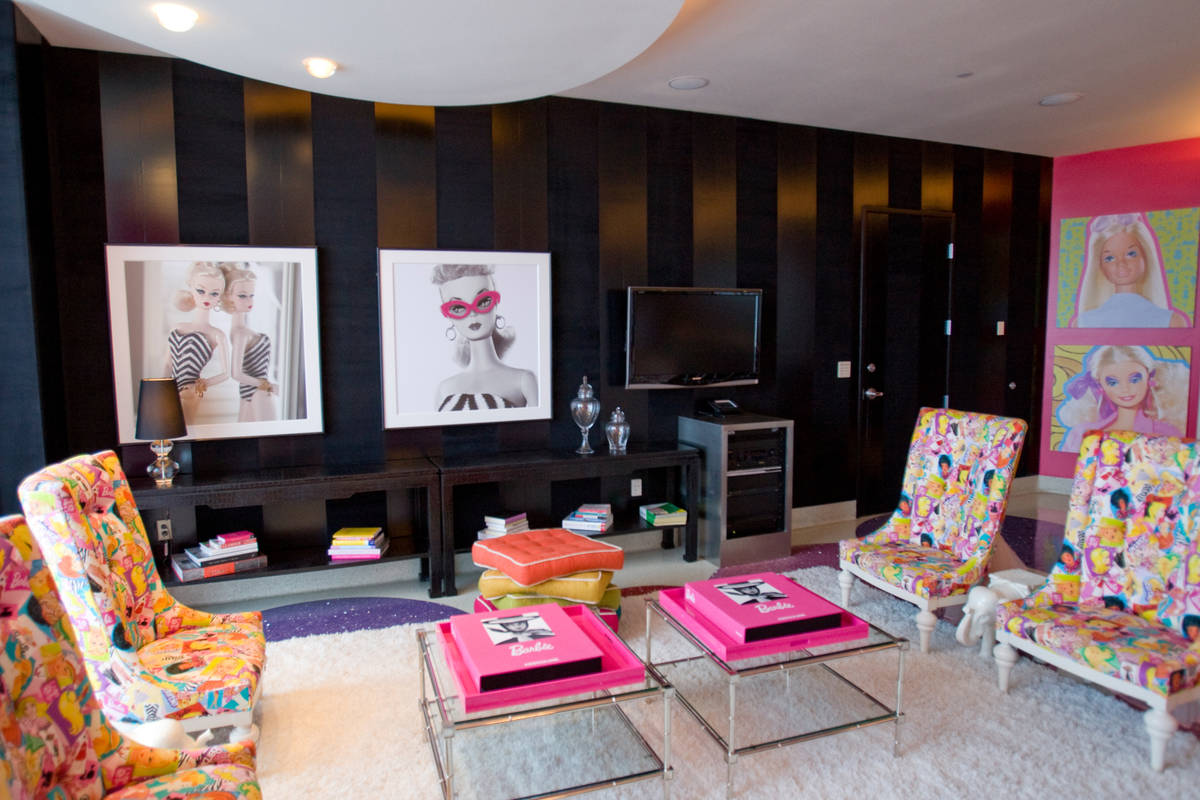 The Palms' Barbie suite in July 2009. (Las Vegas Review-Journal file photo)