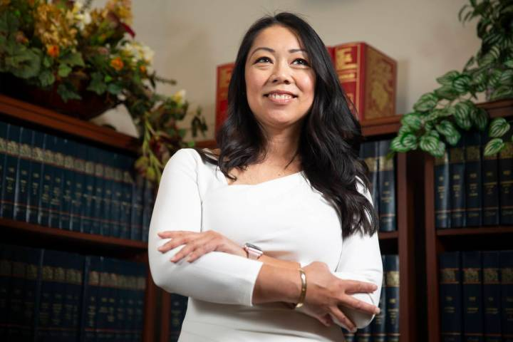 City of North Las Vegas Attorney Micaela Moore poses for a portrait at North Las Vegas City Hal ...
