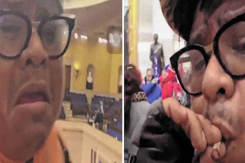 A photo from surveillance video shows Ronald Sandlin smoking what authorities believe was marij ...