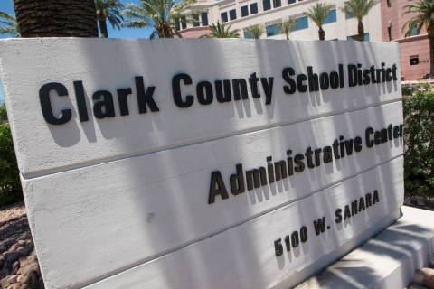 Clark County School District administration building. (Las Vegas Review-Journal)