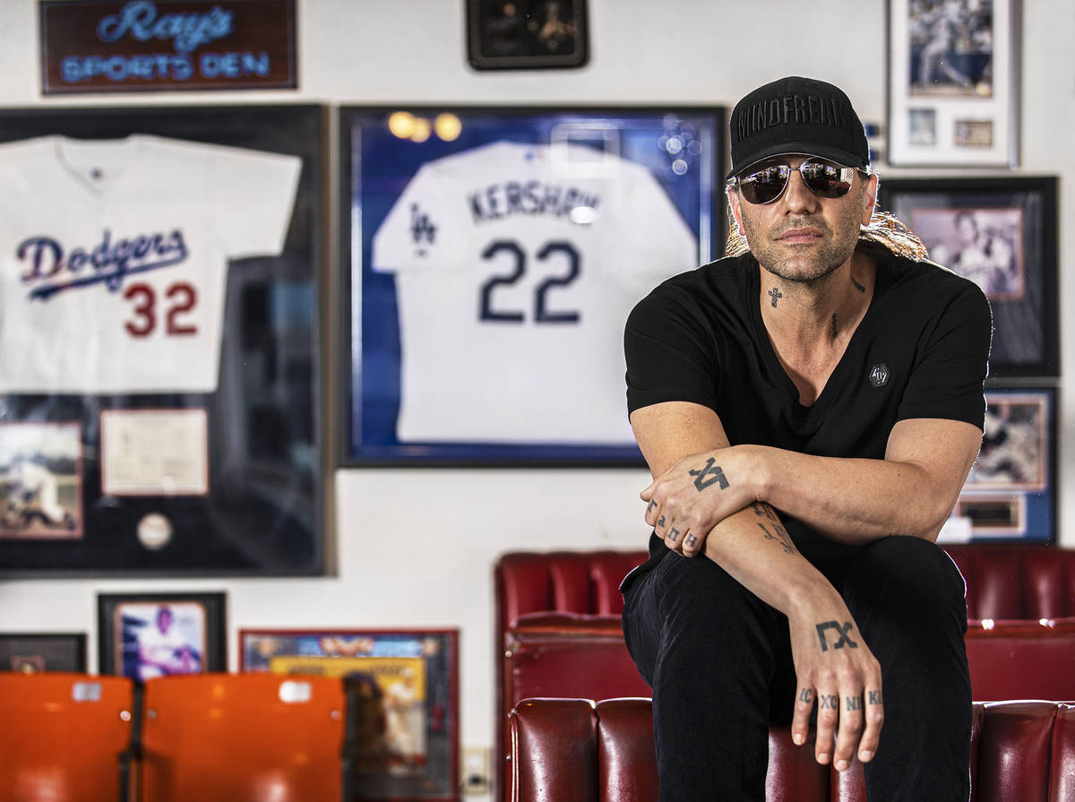 Criss Angel at Sugar's Home Plate on Tuesday, May 11, 2021, in Overton, Nev. (Benjamin Hager/La ...