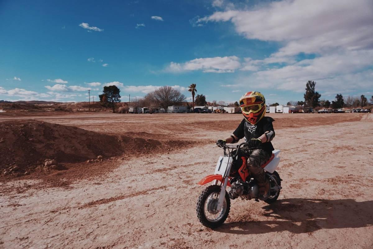 Johnny Crisstopher Sarantakos enjoying a dirt-bike ride. (Criss Angel)