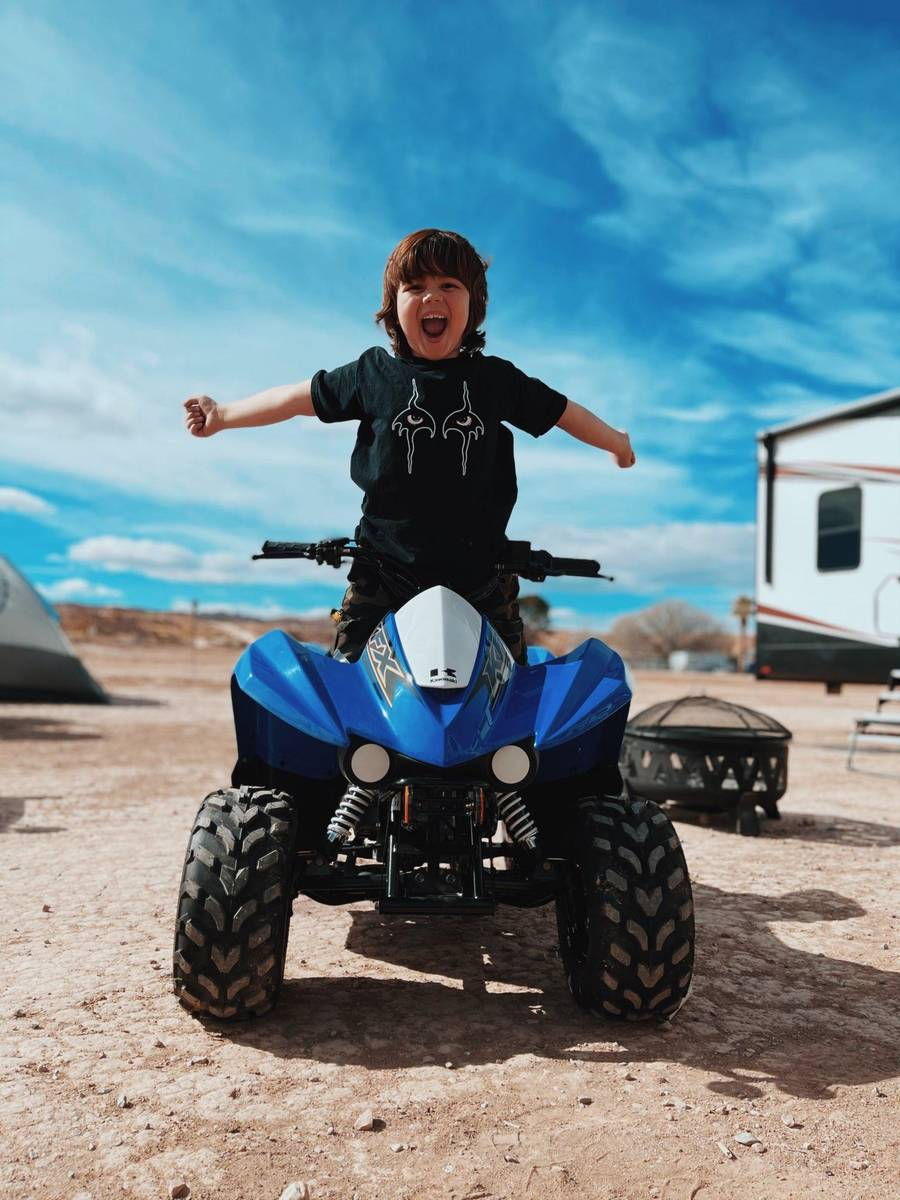 Johnny Crisstopher's family has acquired a number of off-road vehicles. (Criss Angel)