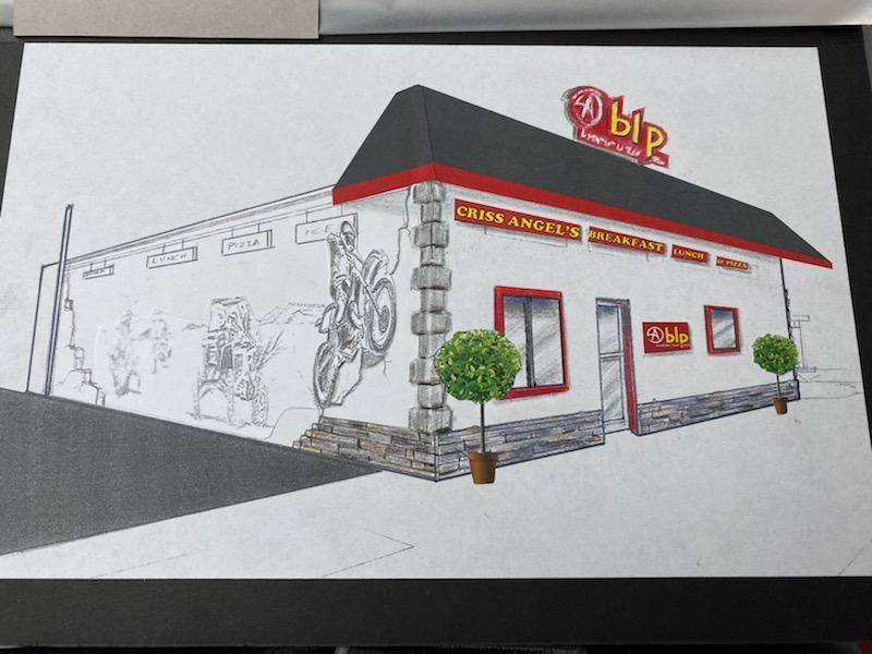 An artist's rendering of Criss Angel's planned CABLP restaurant in Overton. (Criss Angel Studio ...