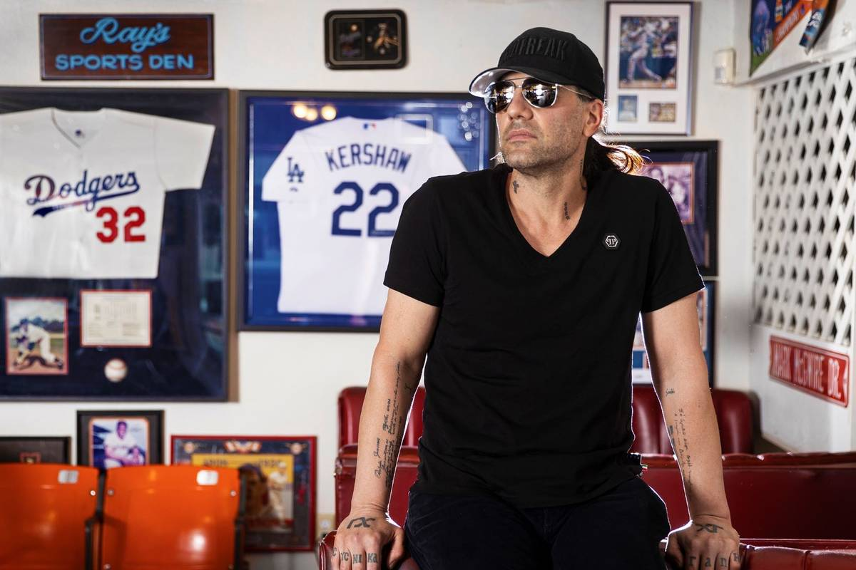 Criss Angel at Sugar's Home Plate on Tuesday, May 11, 2021, in Overton. (Benjamin Hager/Las Veg ...