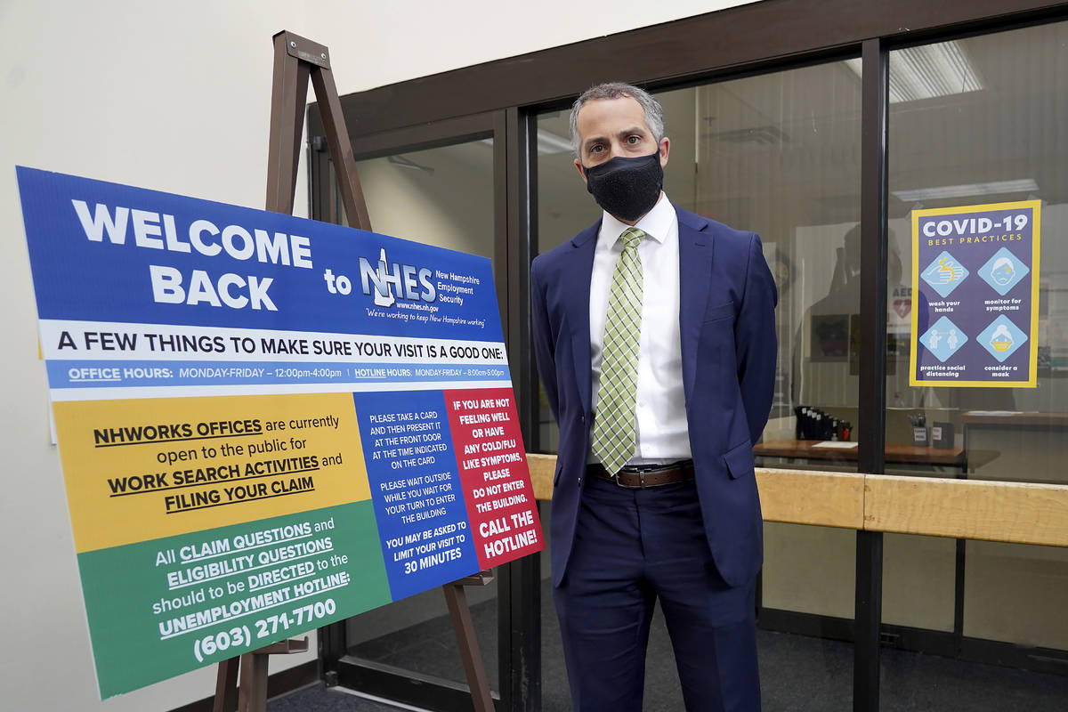 Richard Lavers, Deputy Commissioner New Hampshire Employment Security, poses for a photo at a N ...