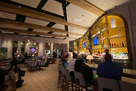 The view from the entrance of Bobby Flay's Amalfi in Caesars Palace. (Al Mancini/Las Vegas Revi ...