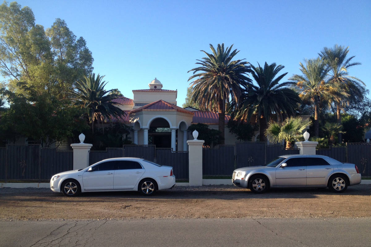 The FBI served a search warrant at the home of rapper Mally Mall in southeast Las Vegas. (Chase ...