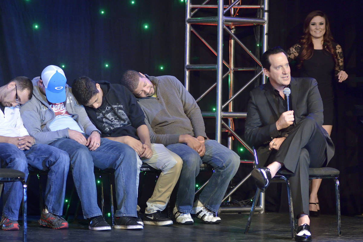 Anthony Cools' hypnosis show this month marks 12 years at Paris Las Vegas. (Bill Hughes/Las Veg ...