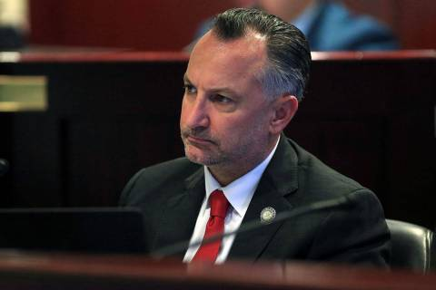 Sen. Chris Brooks, D-Las Vegas, seen in 2017. (Las Vegas Review-Journal)