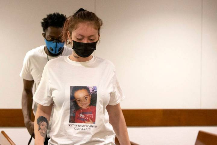 Tayler Nicholson attends a court hearing for her ex-boyfriend Terrell Rhodes, who admitted to a ...