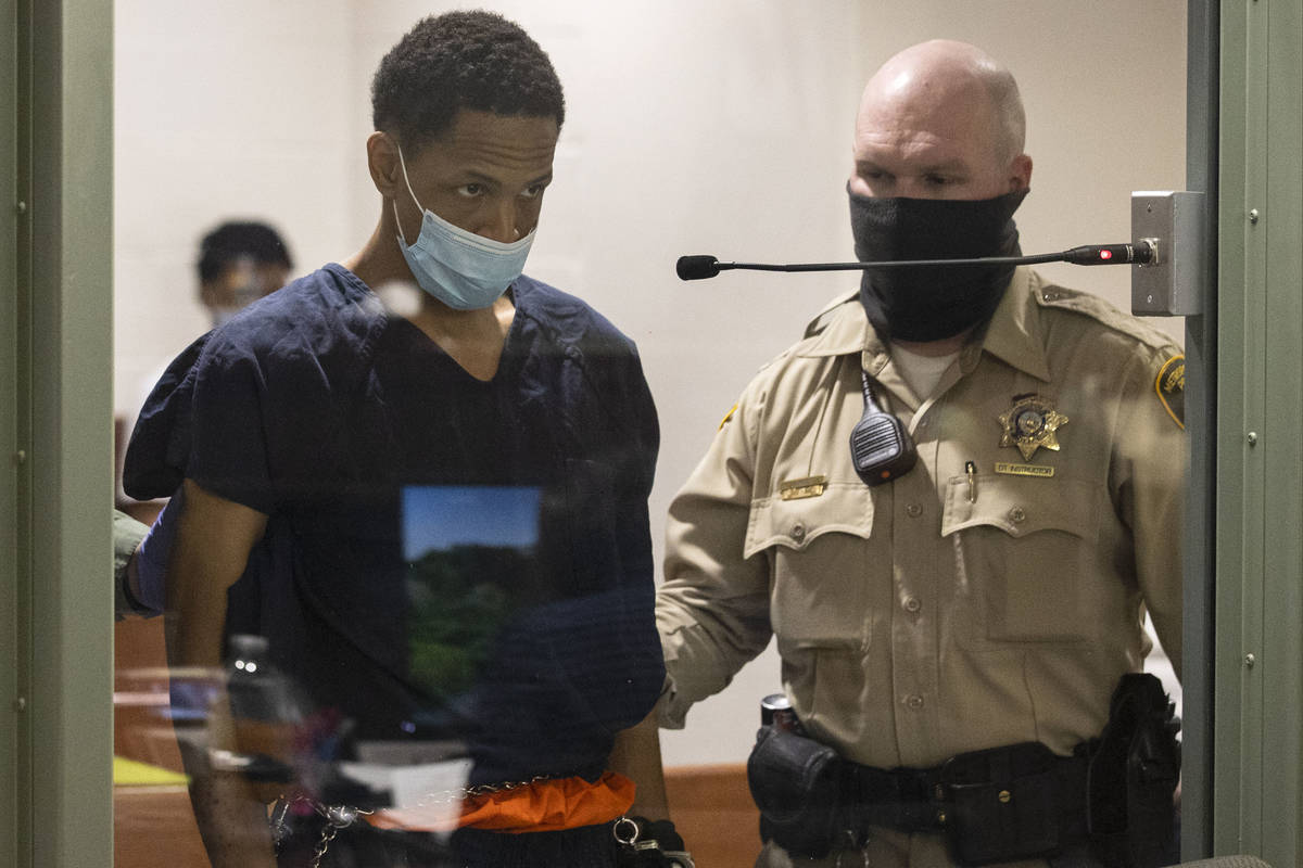 Terrell Rhodes, charged in the death of his girlfriend's 2-year-old son, Amari Nicholson, appea ...