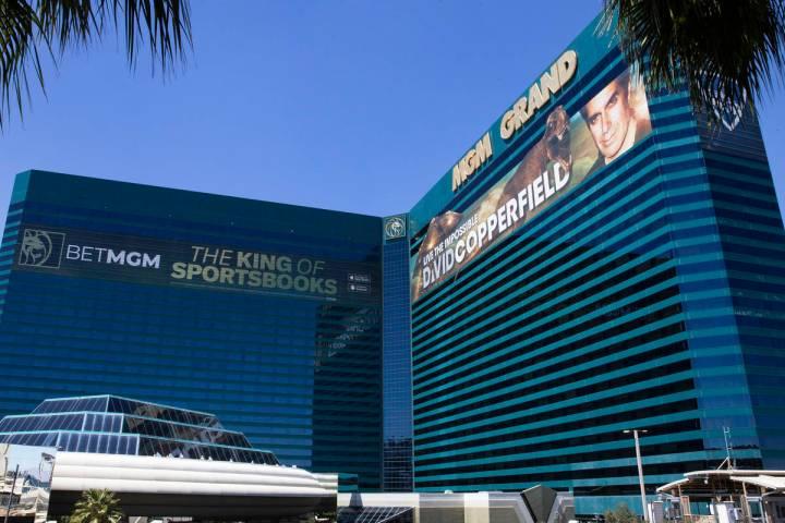 The MGM Grand photographed on Tuesday, April 27, 2021, in Las Vegas. (Bizuayehu Tesfaye/Las Veg ...