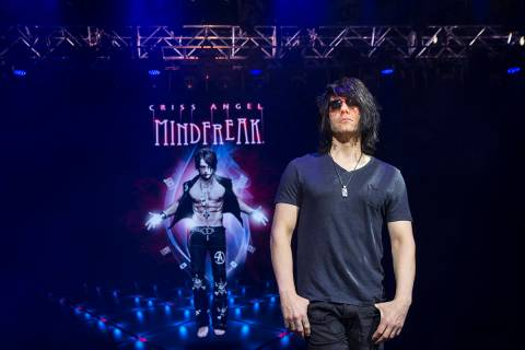 Illusionist Criss Angel at the site of his theater at Planet Hollywood Resort on Thursday, Dec. ...