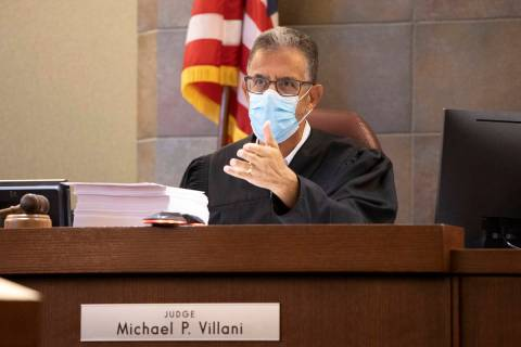 Judge Michael Villani in a court hearing for Zane Floyd, who prosecutors want to execute, at th ...