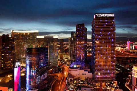 The Cosmopolitan of Las Vegas on the Las Vegas Strip (John Locher/Las Vegas Review-Journal)