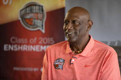NBA legend Spencer Haywood hosts a book signing at the DragonRidge Country Club in Henderson, T ...