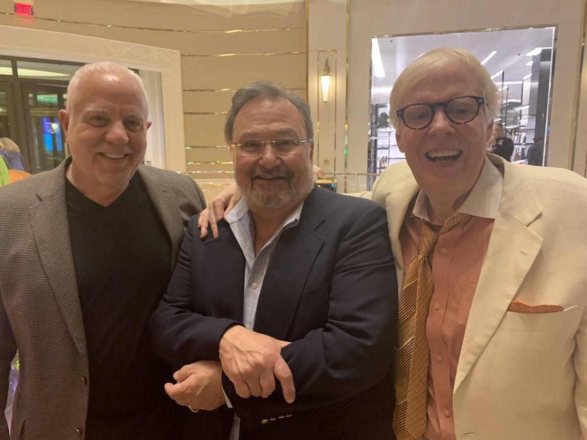 Art Manteris, left, with fellow SBC Sports Betting Hall of Famers Vic Salerno, middle, and Mich ...