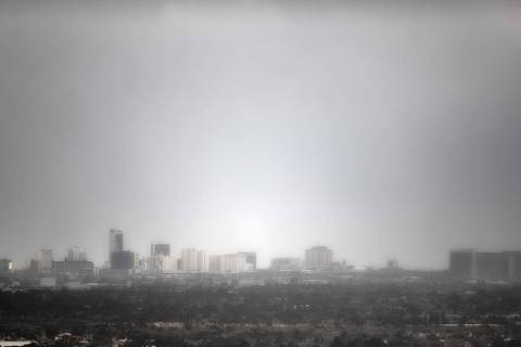 Rain is a 20-30 percent possibility in Las Vegas on Sunday, May 16, 2021, according to the Nati ...