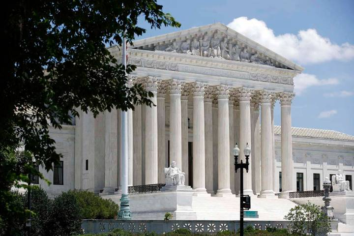 In this June 29, 2020 file photo, the Supreme Court is seen on Capitol Hill in Washington. (AP ...