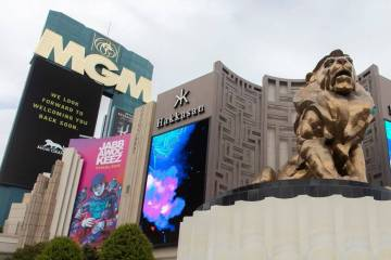 The MGM Grand on the Las Vegas Strip. (Ellen Schmidt/Las Vegas Review-Journal)