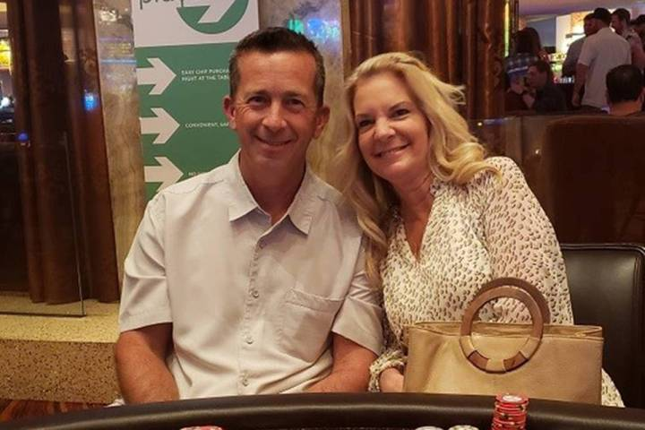 Christy and David Jones of Temecula, California, hit straight flushes at the same Ultimate Texa ...