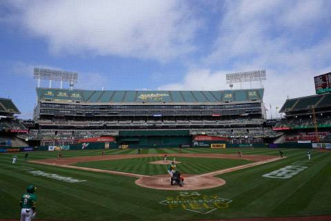 The Oakland Athletics play the Baltimore Orioles in a baseball game in Oakland, Calif., Saturda ...