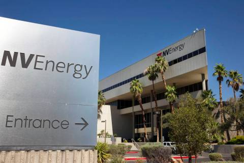 NV Energy's headquarters building photographed on Thursday, July 16, 2020, in Las Vegas.(Bizuay ...