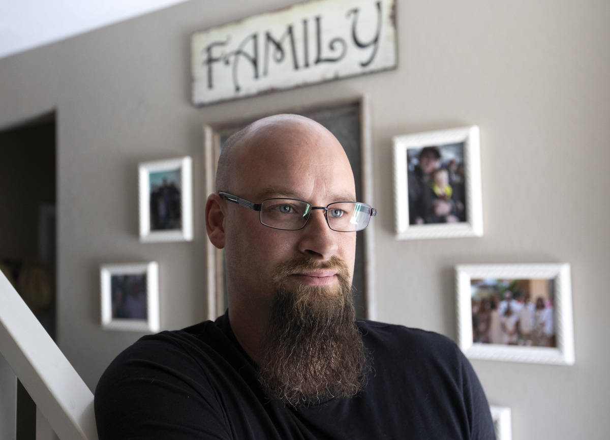 Ross Scheible at his home on Friday, May 21, 2021, in North Las Vegas. His daughter, Aleah Sche ...