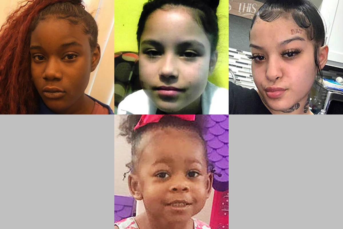 Top: Tatiana Clark - missing since Nov. 5, 2020, from Las Vegas. Now 16; Tatianna Gutierrez - m ...