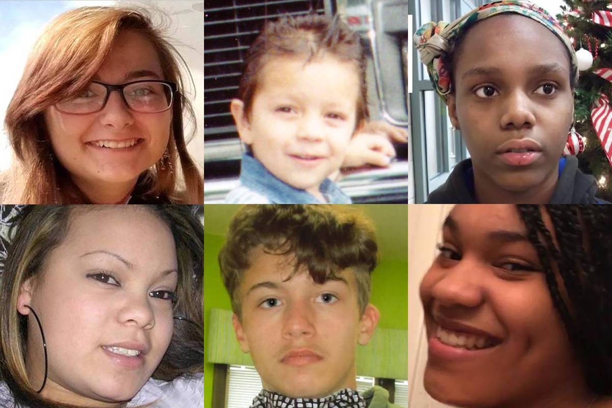 Top: Cierra Kittle - missing since April 11, 2020. from Las Vegas. Now 17; Cirenio Solis, Jr. - ...