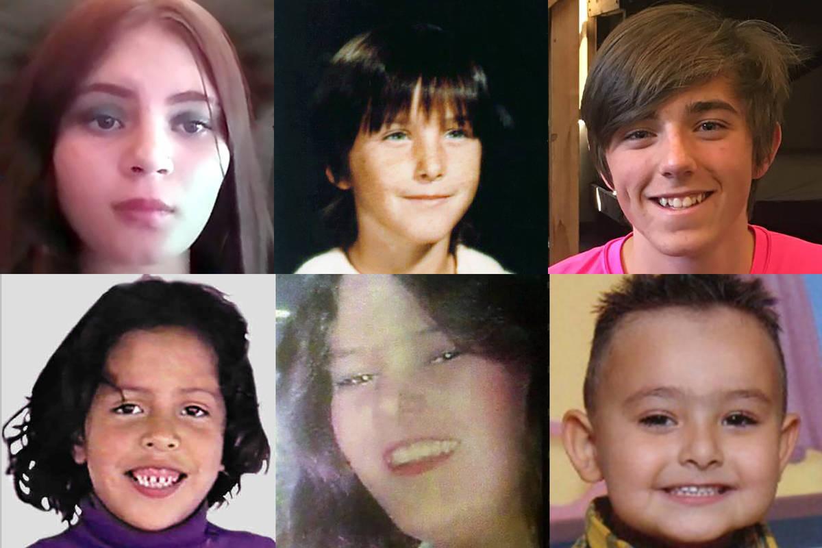 Top: Jaydyn Hoyopatubbi - missing since March 2, 2021, from Reno. Now 14; Jennifer Martin - mis ...