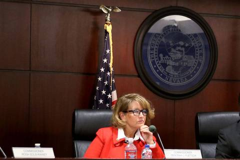 This Dec. 19, 2019, file photo shows Deborah Fuetsch, the lone Nevada Gaming Commission repres ...