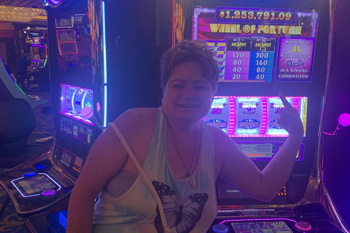 A visitor from Idaho hit for $1,253,701 on a Wheel of Fortune slots machine Tuesday, May 18, 20 ...