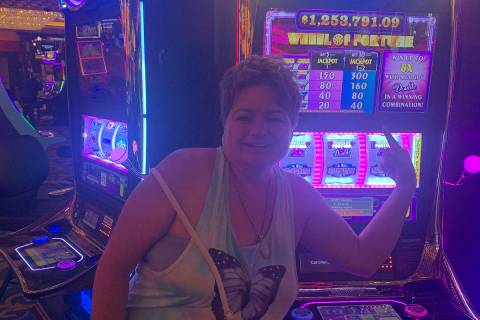 Jennifer Hall of Chubbuck, Idaho hit for $1,253,701 on a Wheel of Fortune slots machine Tuesday ...