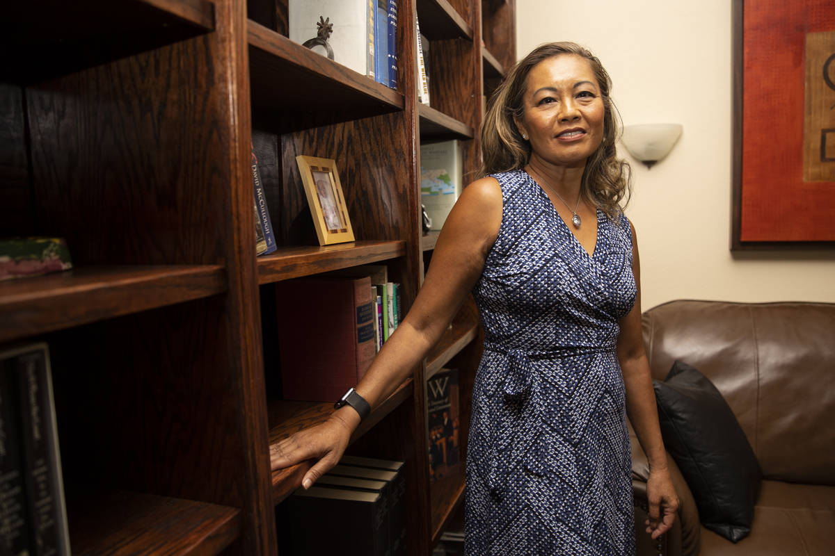 Toni Ann Jones, founder and executive director of the new Innocence Center of Nevada, poses for ...