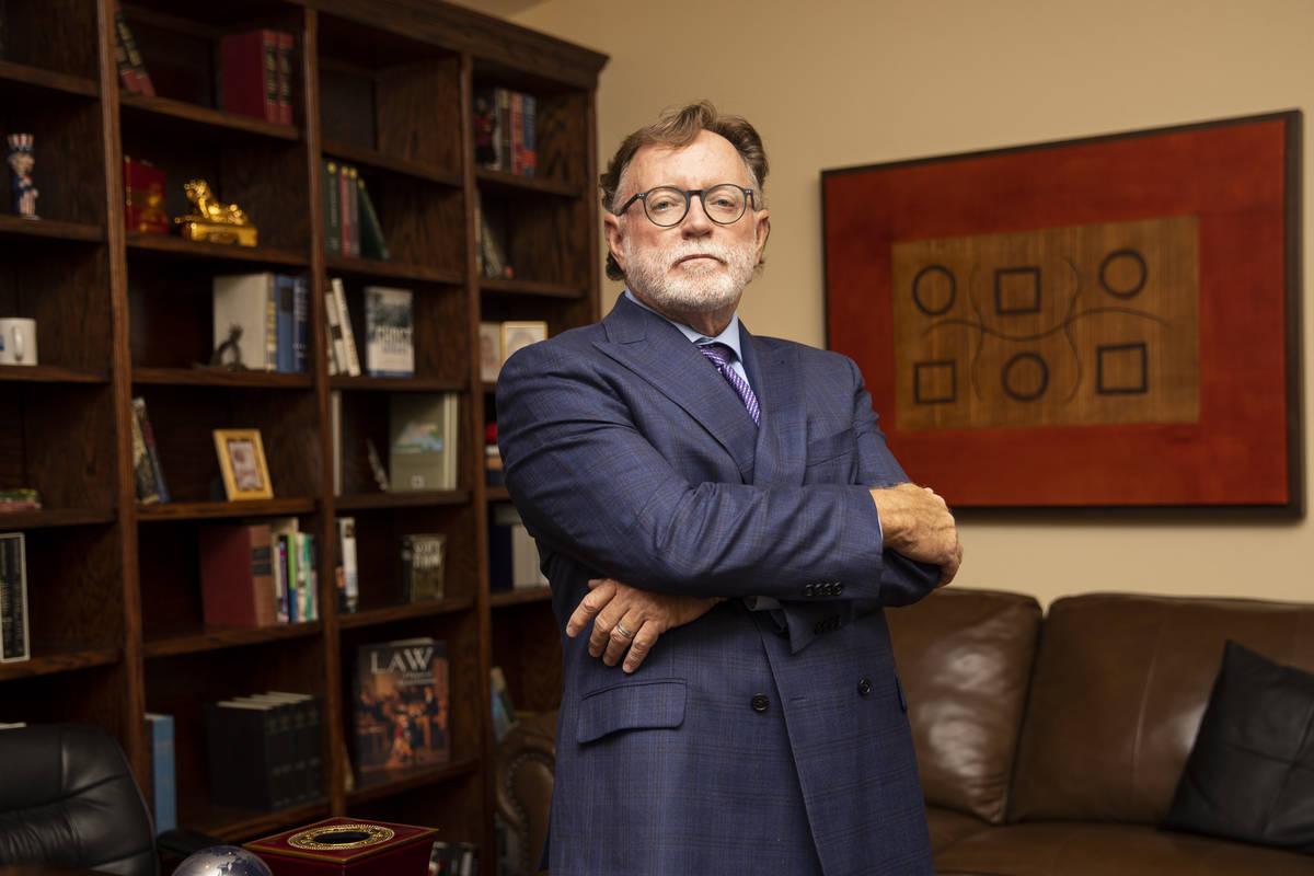 Robert Langford poses for a photo at the Robert L. Langford & Associates law office in Las Vega ...