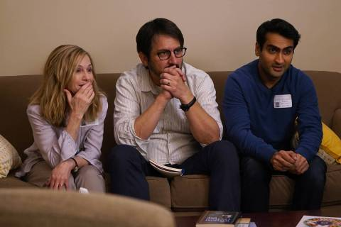"Holly Hunter as Beth, Ray Romano as Terry and Kumail Nanjiani as Kumail in ""The Big Sick."" ..."