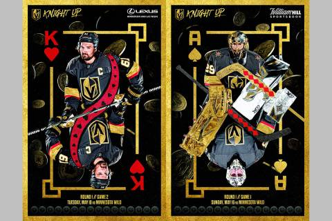 The Golden Knights are offering printable PDF downloads of their gameday posters on their websi ...
