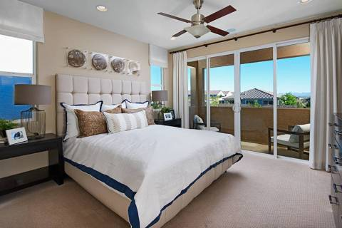 The Verismo neighborhood by Richmond American Homes in Cadence offers the Boxwood model. Offeri ...