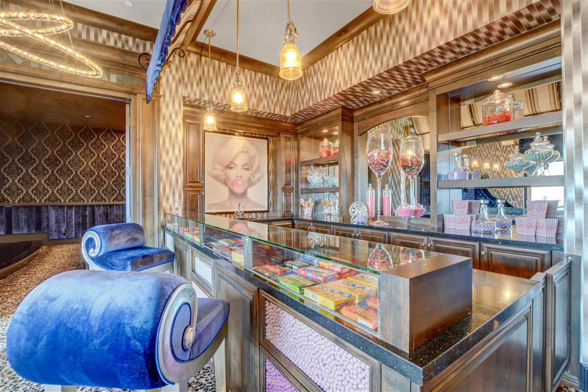 The game room has a candy bar-style concession stand. (Keller Williams)