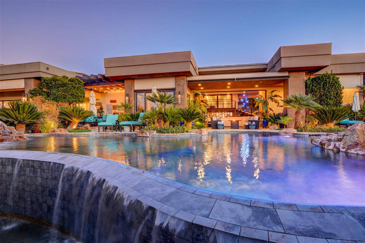 The home has two pools. (Keller Williams)