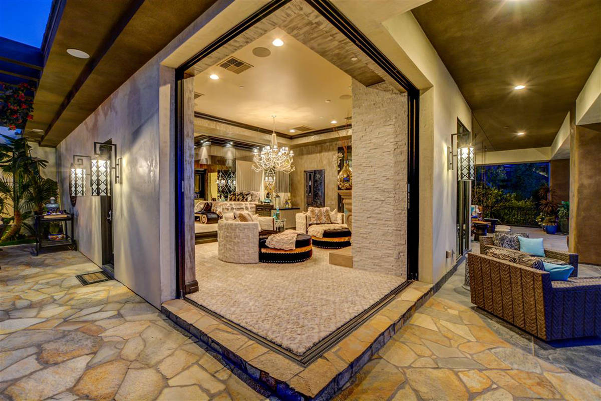 A corner opens the master suite to the patio. (Keller Williams)