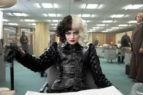 "Emma Stone as Cruella in Disney's live-action ""Cruella."" (Laurie Sparham/Disney)"