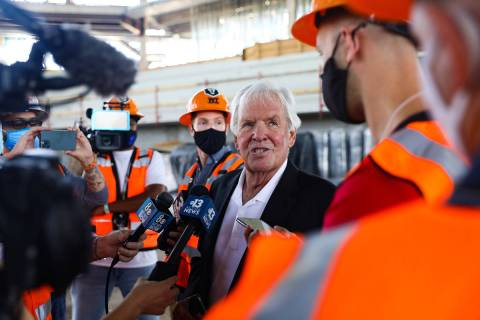 Golden Knights CEO Bill Foley speaks to the media at an event to announce that the Golden Knigh ...