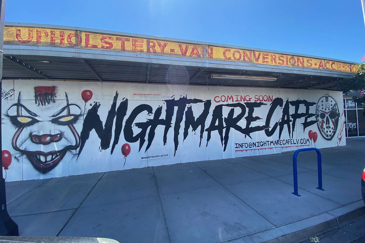 Nightmare Cafe is expected to open in late summer or early fall in the Las Vegas Arts District. ...
