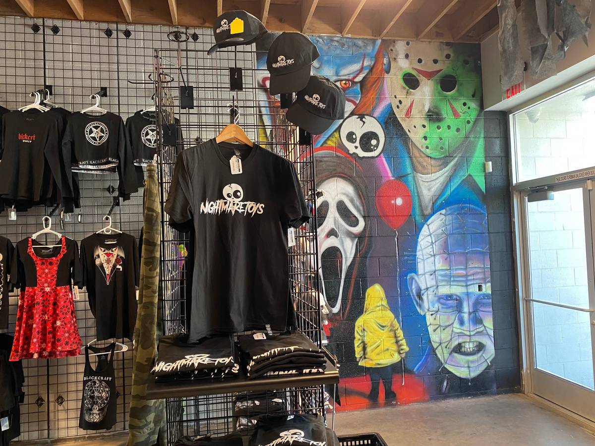 Nightmare Toys also sells horror-themed clothing. (Al Mancini/Las Vegas Review-Journal)