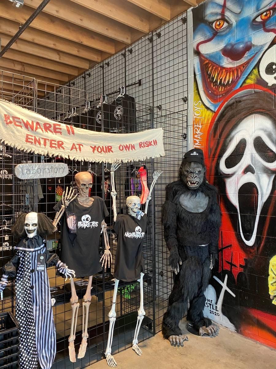 the entrance to Nightmare Toys in the Las Vegas Arts District. (Al Mancini/Las Vegas Review-Jou ...