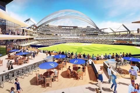Renderings of a proposed major league baseball stadium in Portland, Oregon. Source: Portland Di ...