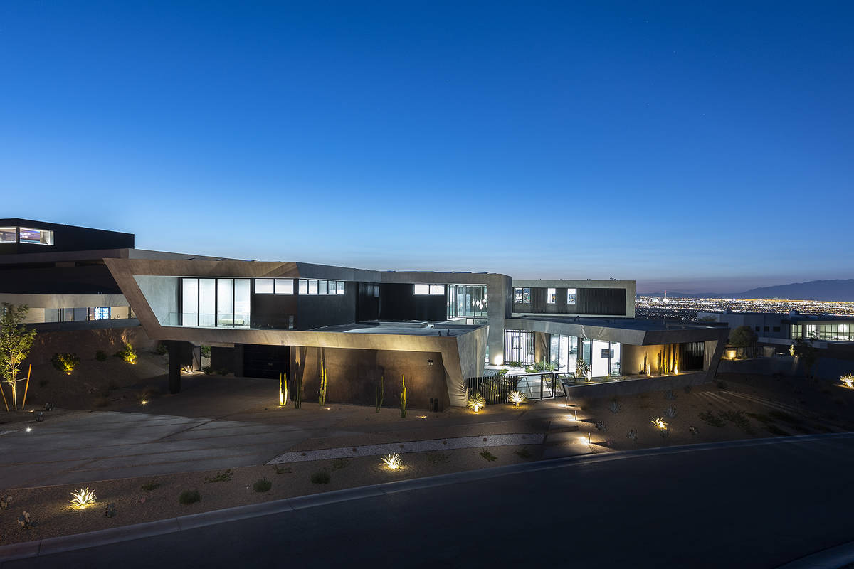 The home has views of the Strip. (Synergy Sotheby's International Realty)